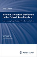Informal Corporate Disclosure: 2015 Edition