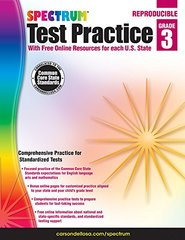 Test Practice, Grade 3: With Free Online Resources for Each U.s. State