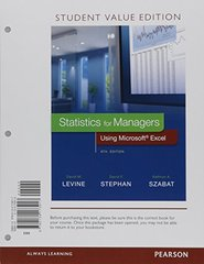 Statistics for Managers Using Microsoft Excel + MyStatLab for Business Acces Code + PHStat Access Code