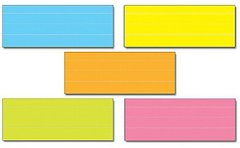 Word Strips Lined Multi-Colored