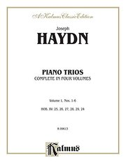 Trios for Violin, Cello and Piano, Nos. 1-6: Kalmus Edition