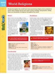 Flashcharts World Religions, Grades 5-6