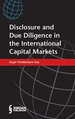 Disclosure and Due Diligence in the International Capital Markets