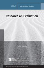 Research on Evaluation: Winter 2015