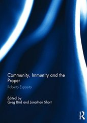 Community, Immunity and the Proper: Roberto Esposito