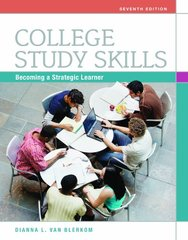 College Study Skills: Becoming a Strategic Learner by Van Blerkom, Dianna L.