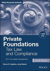 Private Foundations: Tax Law and Compliance