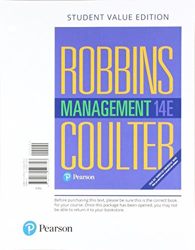 Buy Management By Stephen P Robbins Mary P Coulter Joseph J