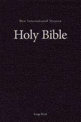 NIV, Single-Column Pew and Worship Bible, Large Print, Hardcover, Black
