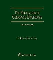 Regulation of Corporate Disclosure