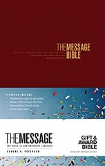 The Message: Burgundy Imitation Leather: the Bible in Contemporary Language: Gift & Award Bible