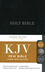 KJV, Pew Bible, Large Print, Hardcover, Burgundy, Red Letter Edition, Comfort Print
