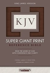 King James Version Super Giant Print Reference Bible: King James Version, Brown, Flexisoft