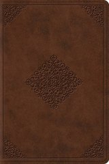 ESV Study Bible: English Standard Version, Saddle, TruTone, Ornament Design, Personal Size