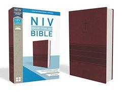 Holy Bible: New International Version, Burgundy Leathersoft, Value Thinline Bible