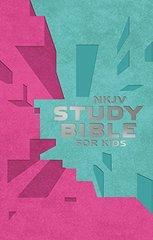 NKJV Study Bible For Kids: New King James Version Study Bible for Kids, Pink/Teal