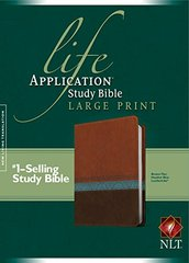 Life Application Study Bible: New Living Translation Life Application Study Bible, Brown/Tan/Heather Blue, Leatherlike
