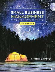 Small Business Management: Creating a Sustainable Competitive Advantage