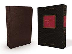 NKJV, Minister's Bible, Imitation Leather, Brown, Comfort Print