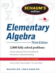 Schaum's Outline of Elementary Algebra by Rich, Barnett/ Schmidt, Philip A.