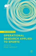 Operational Research Applied to Sports by Wright, Mike (EDT)