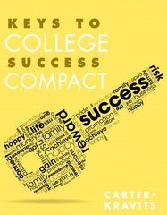 Keys to College Success Compact + New Mystudentsuccesslab Update Access Card by Carter, Carol J./ Kravits, Sarah Lyman