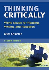 Thinking Critically: World Issues for Reading, Writing, and Research