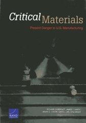 Critical Materials: Present Danger to U.S. Manufacturing by Silberglitt, Richard/ Bartis, James T./ Chow, Brian G./ An, David L./ Brady, Kyle