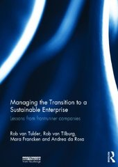 Managing the Transition to a Sustainable Enterprise: Lessons from Frontrunner Companies by Tulder, Rob Van/ Van Tilburg, Rob/ Francken, Mara/ Rosa, Andrea Da