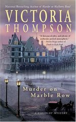 Murder On Marble Row by Thompson, Victoria