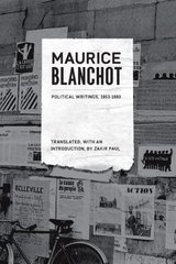 Maurice Blanchot Political Writings, 1958-1993