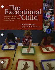 The Exceptional Child: Inclusion in Early Childhood Education by Allen, Eileen K./ Cowdery, Glynnis E.
