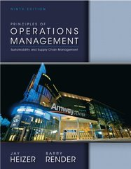 Principles of Operations Management: Sustainability and Supply Chain Management by Heizer, Jay/ Render, Barry