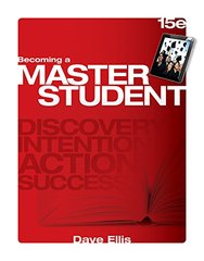 Becoming a Master Student by Ellis, Dave