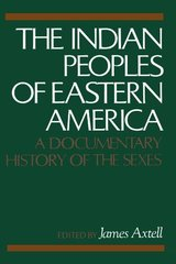 The Indian Peoples of Eastern America: A Documentary History of the Sexes by Axtell, J.
