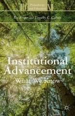 Institutional Advancement: What We Know by Proper, Eve/ Caboni, Timothy C.