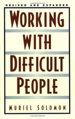 Working With Difficult People by Solomon, Muriel