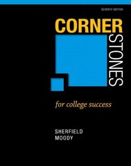 Cornerstones for College Success + New Mystudentsuccesslab 2013 Update Access Card: Books a La Carte Edition by Sherfield, Robert M./ Moody, Patricia G.
