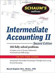 Schaum's Outline of Intermediate Accounting II by Englard, Baruch